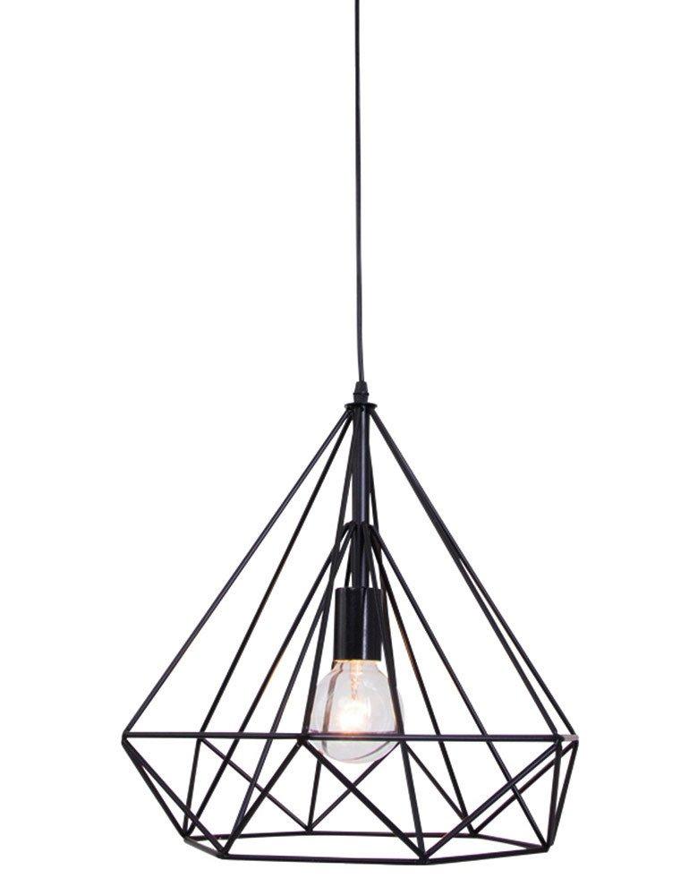 suspension fil de fer noir lumidem jenno. Black Bedroom Furniture Sets. Home Design Ideas