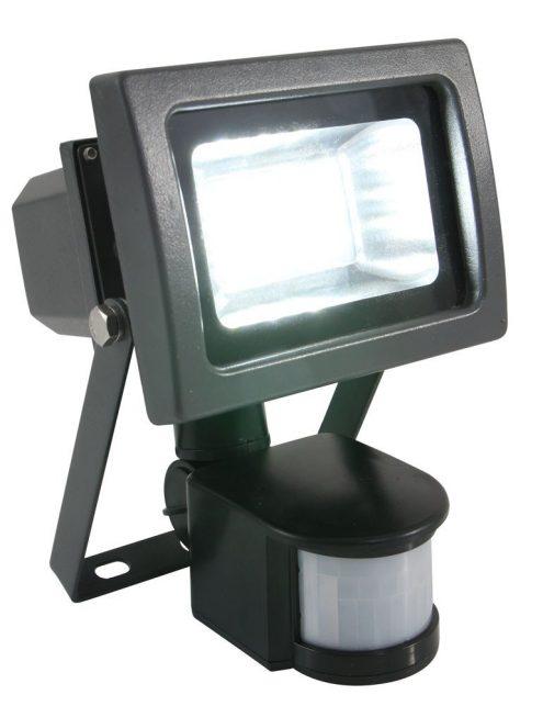 Applique industrielle gris anthracite avec capteurs