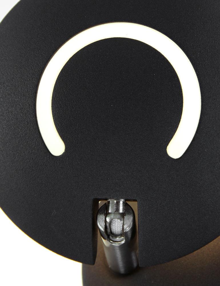 applique ronde design moderne de couleur noire. Black Bedroom Furniture Sets. Home Design Ideas