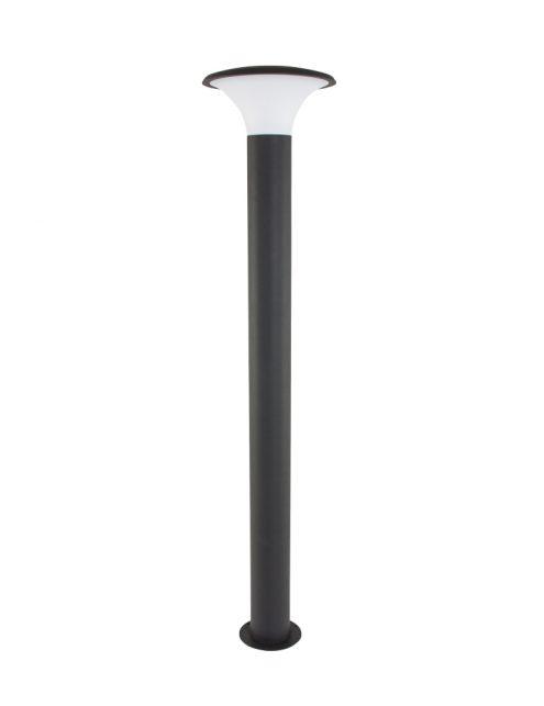 Borne-déclairage-extérieur-LED-grise-3