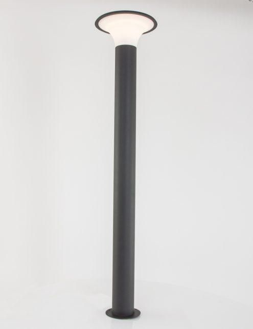 Borne-déclairage-extérieur-LED-grise-5