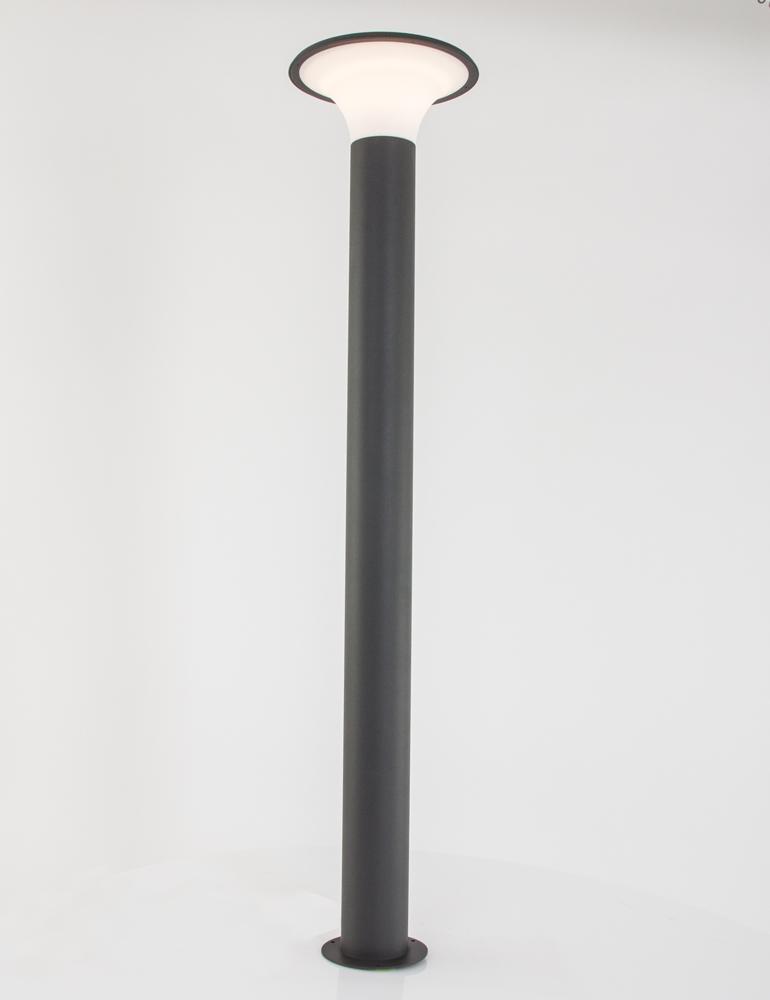 borne eclairage exterieur led lampe metal et plastique grise. Black Bedroom Furniture Sets. Home Design Ideas