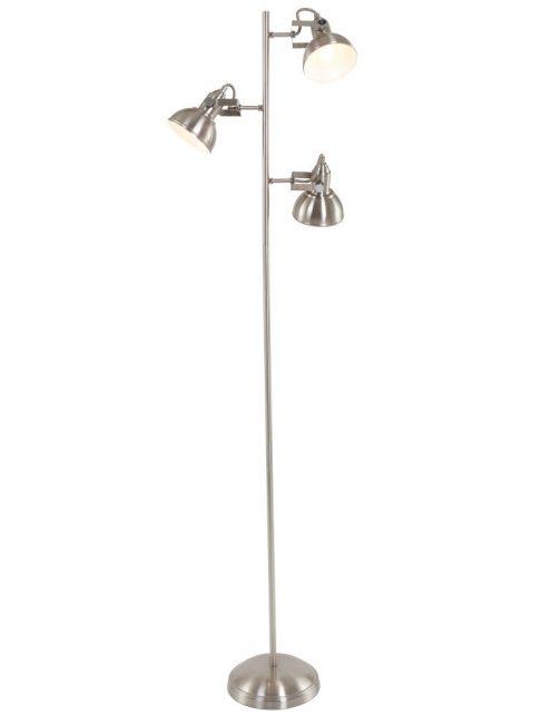 Lampadaire 3 lampes - nickel mate
