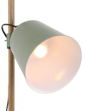 Lampadaire-vert-anis-minimaliste-pied-en-bois-1