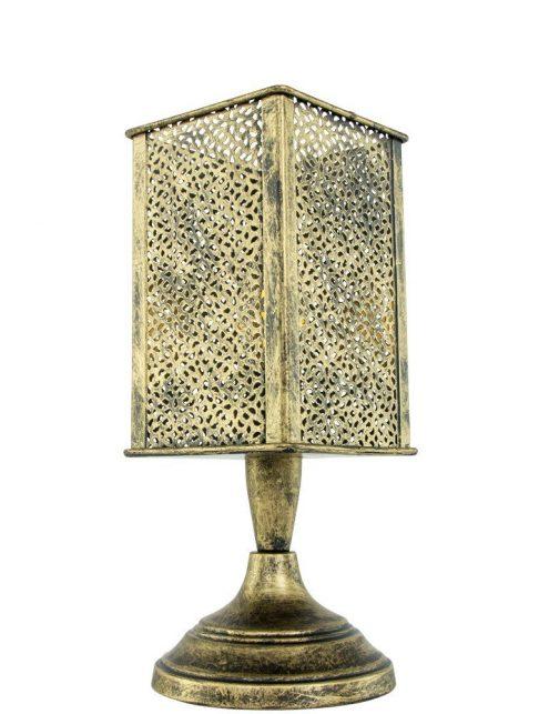 Lampe à poser dorée orientale