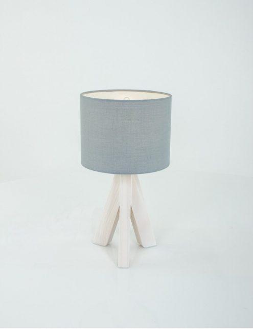 Lampe-a-poser-trepied-bois-abat-jour-gris-3
