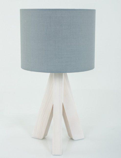 Lampe-a-poser-trepied-bois-abat-jour-gris-4