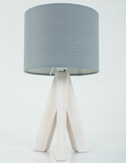Lampe-a-poser-trepied-bois-abat-jour-gris-5