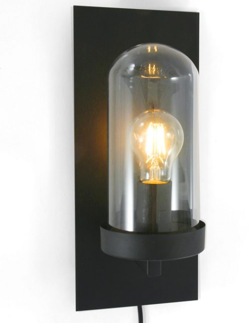 Lampe-cloche-murale-de-couleur-noire-et-verre-3