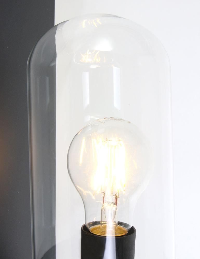 lampe cloche verre design industriel de couleur sombre prix competitif. Black Bedroom Furniture Sets. Home Design Ideas