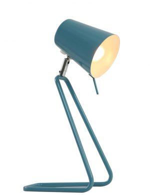 Lampe de bureau bleu clair inclinable et originale
