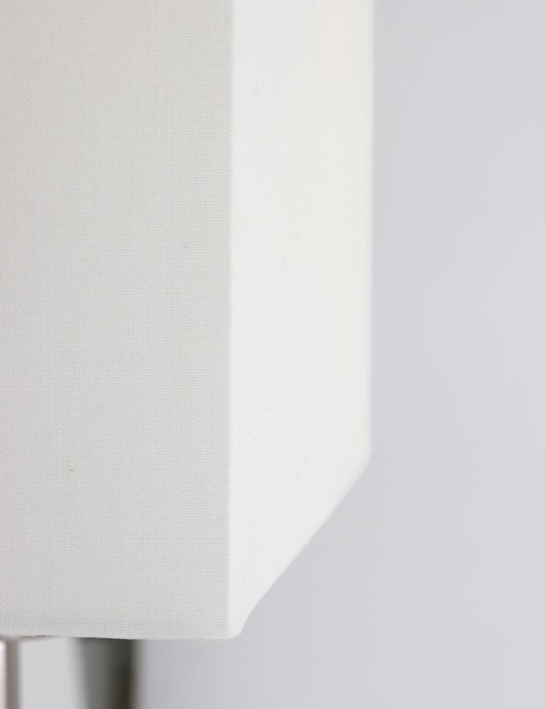 lampe de chevet moderne de couleur acier et blanc. Black Bedroom Furniture Sets. Home Design Ideas