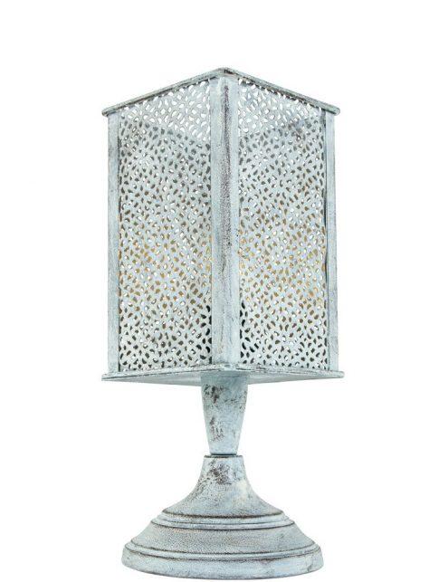 Lampe de chevet orientale grise
