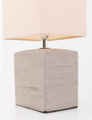 Lampe-de-chevet-rustique-pied-gris-abat-jour-beige-1