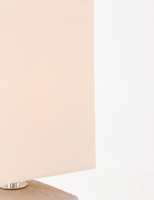 Lampe-de-chevet-rustique-pied-gris-abat-jour-beige-2