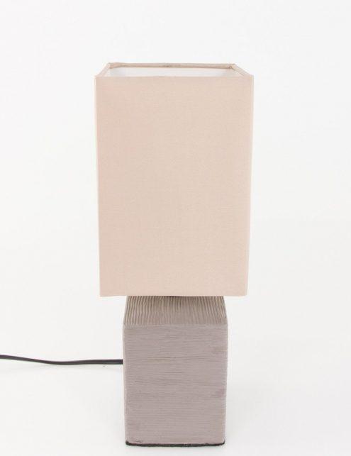 Lampe-de-chevet-rustique-pied-gris-abat-jour-beige-4