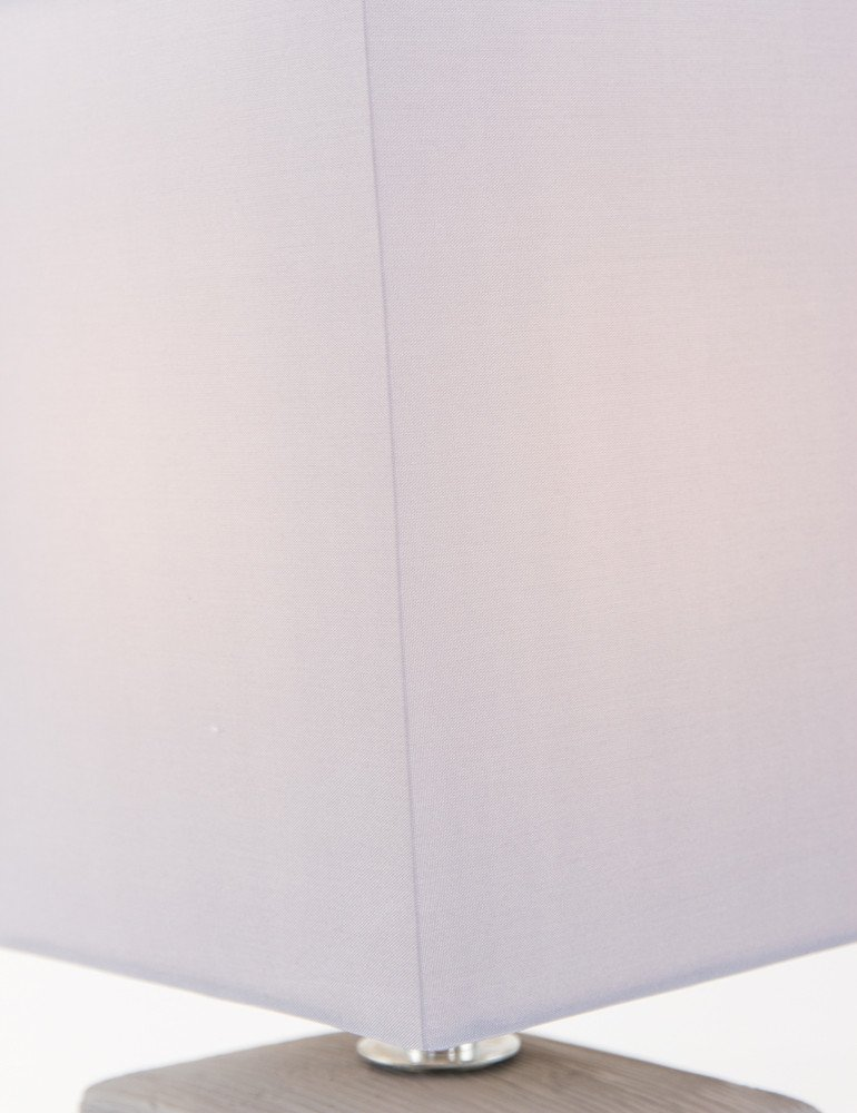 lampe poser rustique gris lavande. Black Bedroom Furniture Sets. Home Design Ideas
