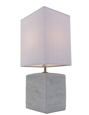 Lampe de table rustique gris lavande