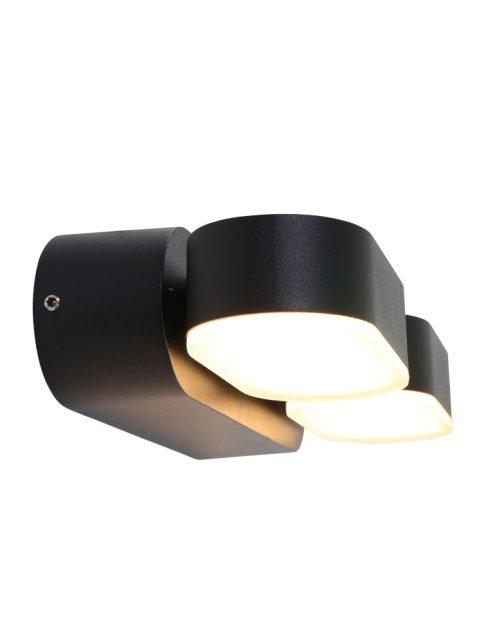 Lampe d'extérieur rotative à 2 spots