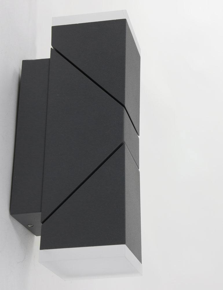 luminaire exterieur applique 2 spots moderne noire. Black Bedroom Furniture Sets. Home Design Ideas
