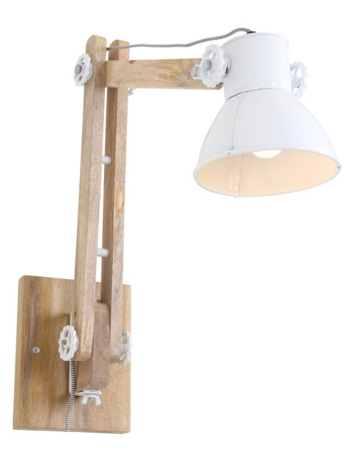 Lampe murale bois