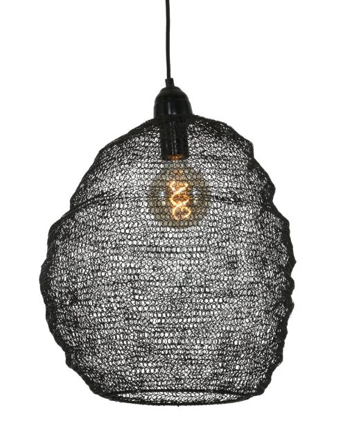 Lampe-noire-en-mailles-métalliques-Trendy-1