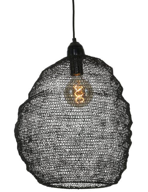 Lampe noire en mailles métalliques Trendy