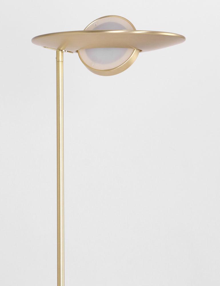 lampadaire led en laiton steinhauer. Black Bedroom Furniture Sets. Home Design Ideas