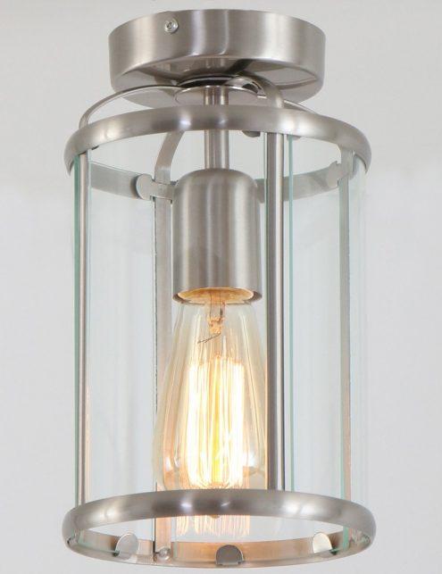 Luminaire-plafonnier-classique-verre-et-metal-4