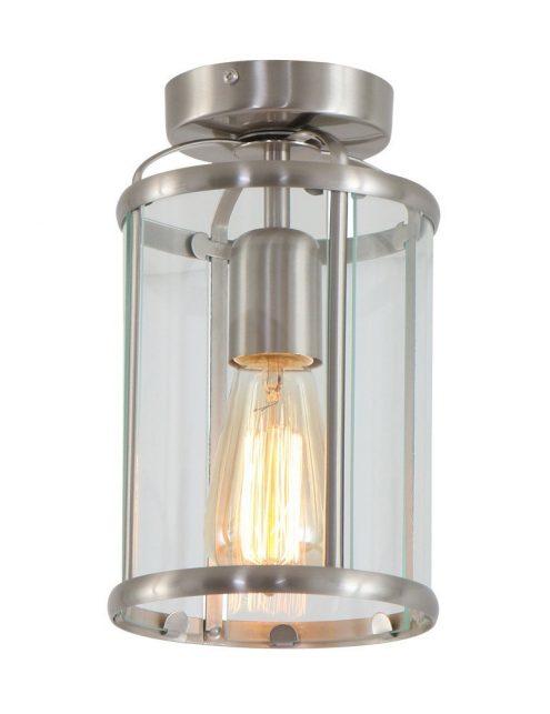Luminaire plafonnier classique verre et metal