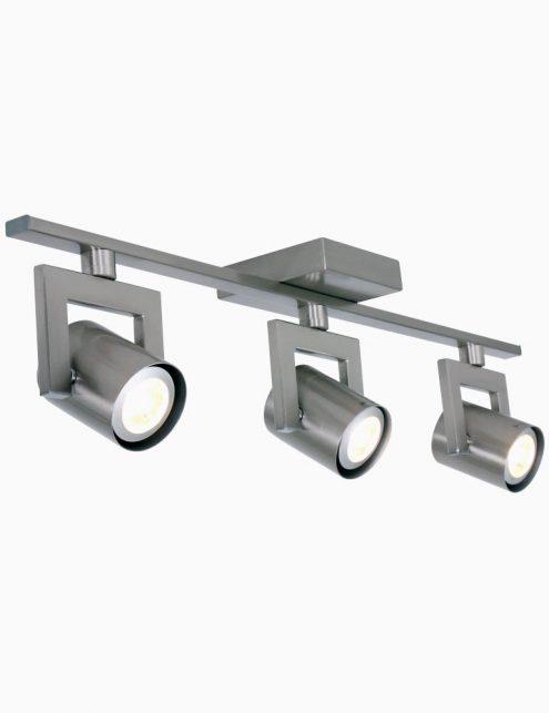 Plafonnier 3 spots LED réglables en acier