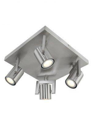 Plafonnier-4-spots-LED-industriel-gris-metal-1