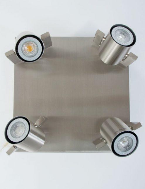 Plafonnier-4-spots-LED-industriel-gris-metal-4