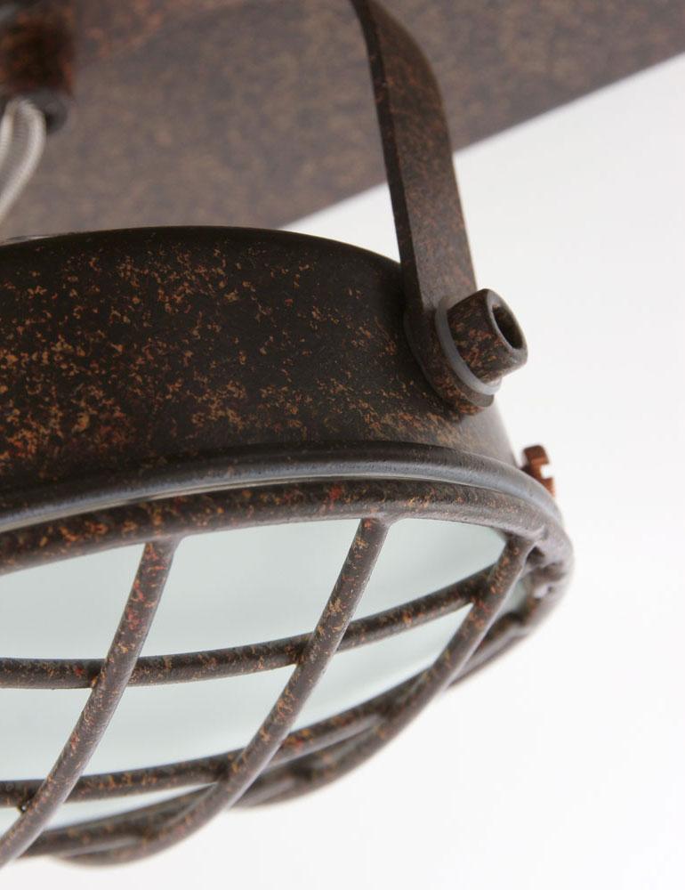 plafonnier 4 spots vintage marron spot industriel. Black Bedroom Furniture Sets. Home Design Ideas