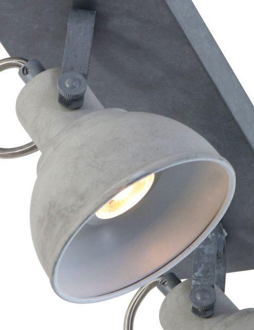 Plafonnier-design-moderne-gris-clair-à-2-spot-2