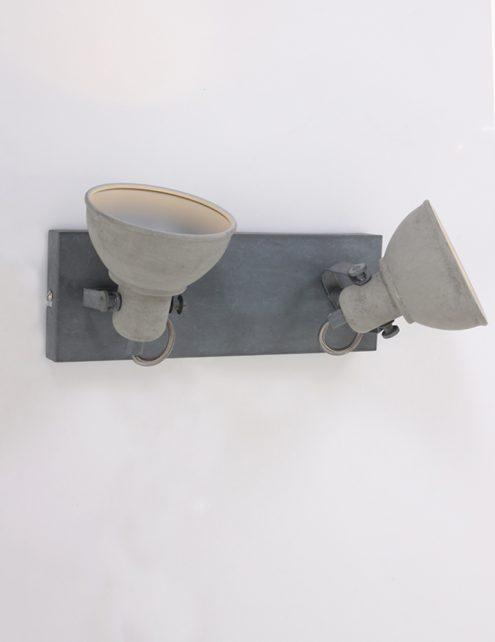 Plafonnier-design-moderne-gris-clair-à-2-spot-3
