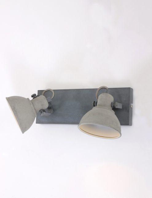 Plafonnier-design-moderne-gris-clair-à-2-spot-5