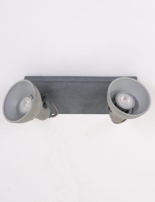 Plafonnier-design-moderne-gris-clair-à-2-spot-6