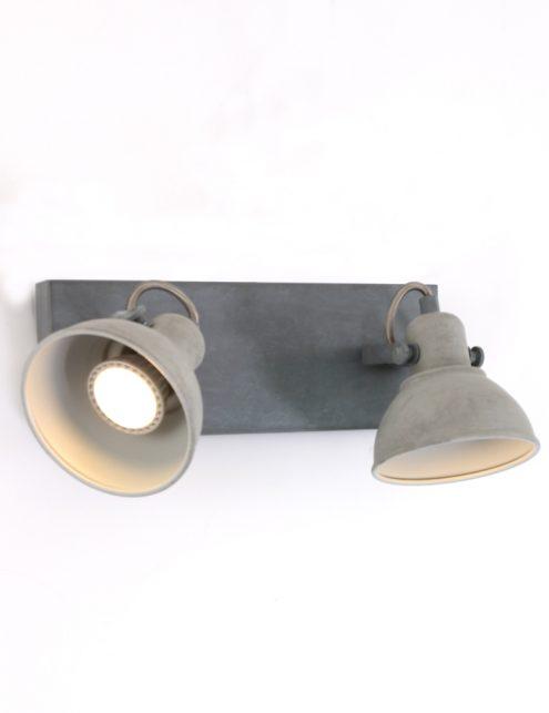 Plafonnier-design-moderne-gris-clair-à-2-spot-8