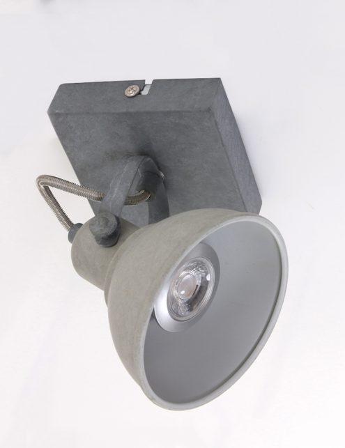 Plafonnier-spot-industriel-gris-anthracite-à-1-lumière-ajustable-6