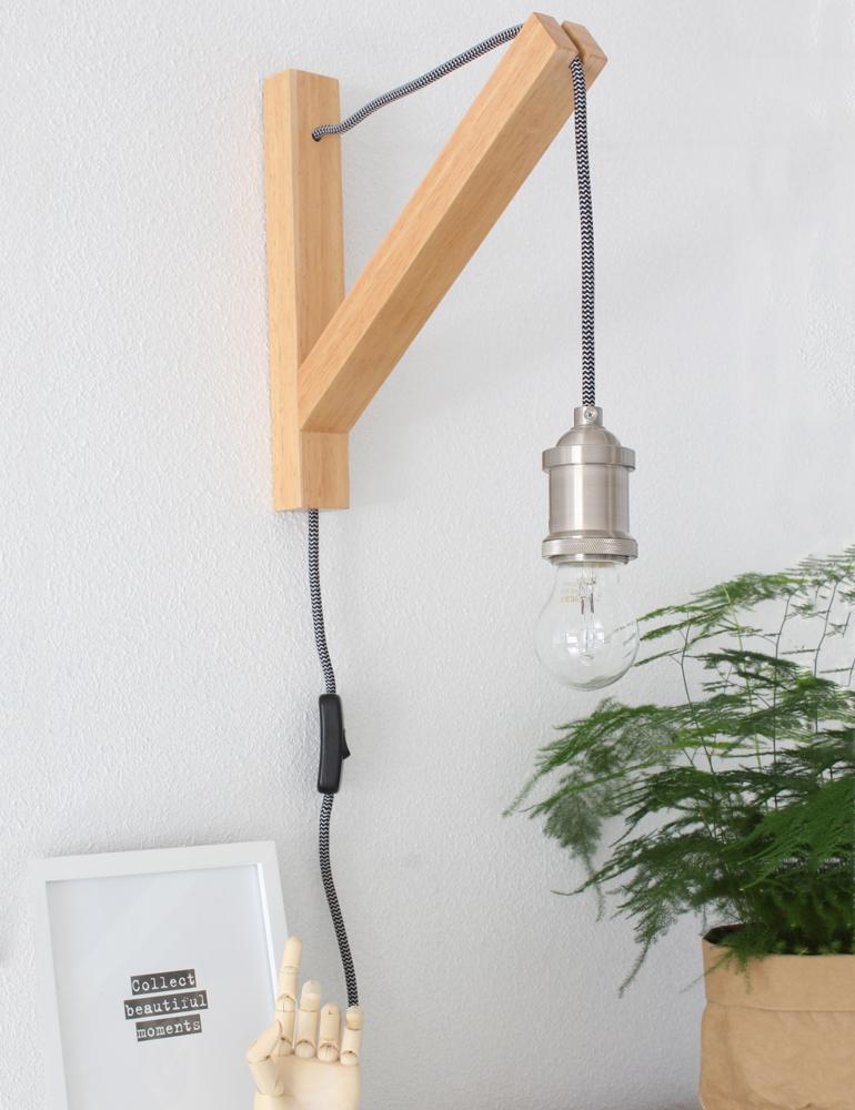 applique murale design bois lumidem obian rustique et moderne. Black Bedroom Furniture Sets. Home Design Ideas