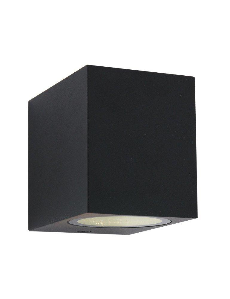 applique murale exterieure noire shada square. Black Bedroom Furniture Sets. Home Design Ideas