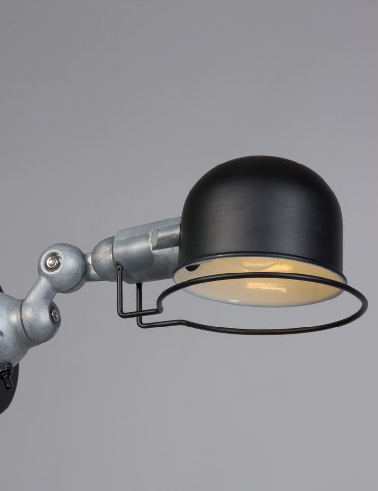 applique murale metal noir lumidem davin. Black Bedroom Furniture Sets. Home Design Ideas