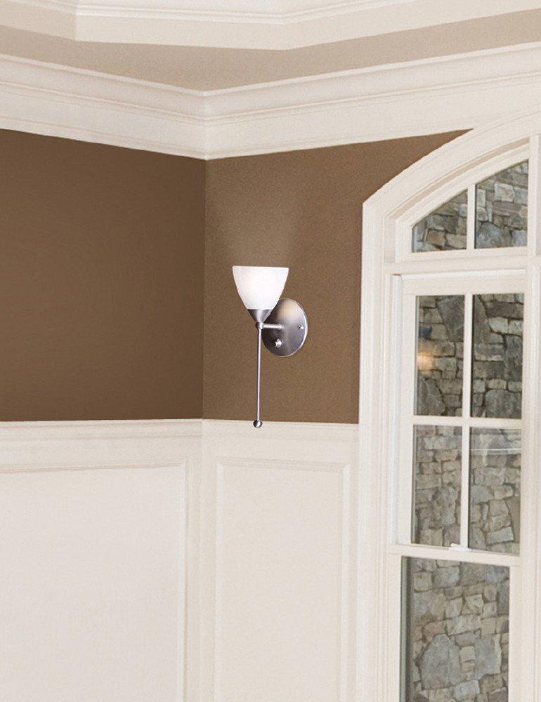 applique murale verre transparent steinhauer burgundy tendance. Black Bedroom Furniture Sets. Home Design Ideas