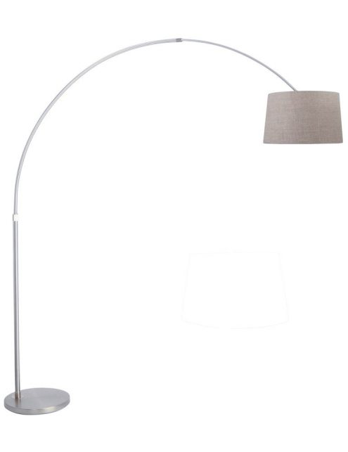 lampadaire arc gris