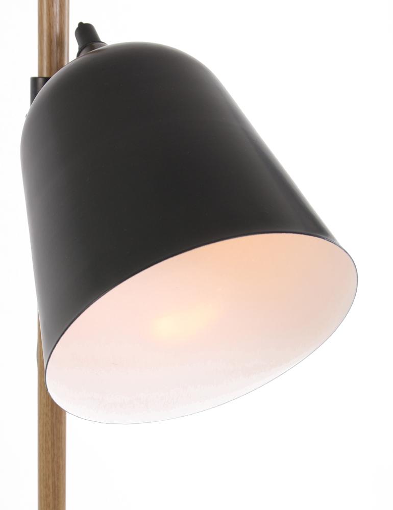 Lampadaire Bois Et Metal Luminaire Noir Lampesenligne Fr