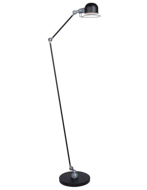 lampadaire industriel noir