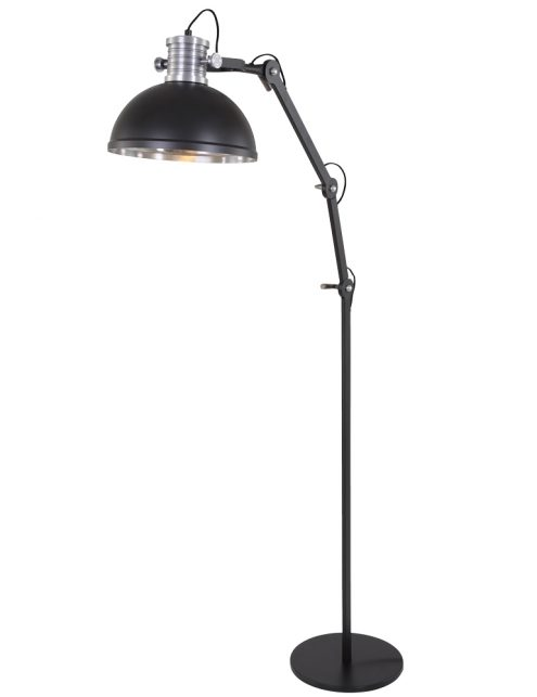 lampadaire metal noir