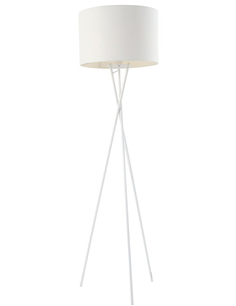 lampadaire trepied blanc globo gustav. Black Bedroom Furniture Sets. Home Design Ideas