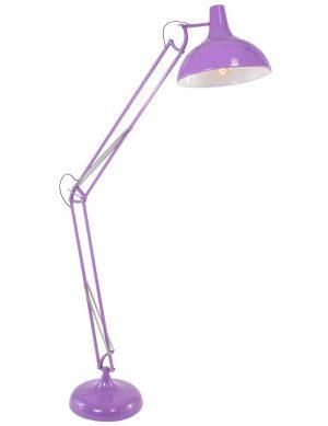lampadaire violet